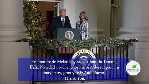 Mensaje de Donald & Melanie Trump por Navidad, Jesús y la Sagrada familia presente en el Discurso