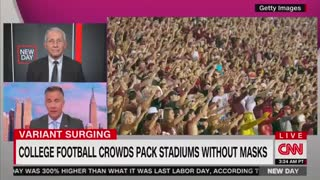 Dr. Fauci slams colleges for hosting football games without masks