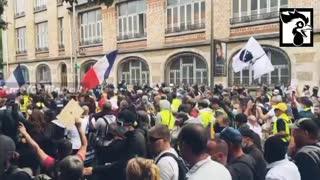 Paris, France: Massive Protests Against Vaccine Passports, 7-30-21