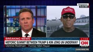 Weeping Dennis Rodman praises Trump, disses Obama over North Korea