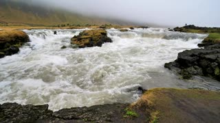 Close up of Icelandic River Flowing