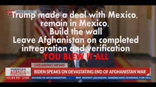 Biden Blames Trump on Afghanistan