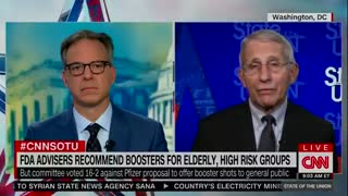 """Fauci: FDA Advisory Committee """"didn't make a mistake"""" voting against booster shots"""