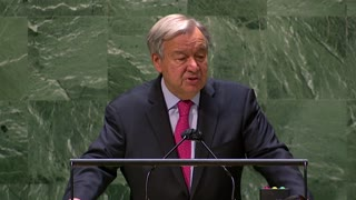 U.N. chief scorns vaccine rollout, billionaire astronauts