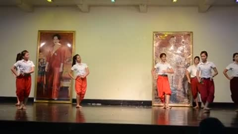 Thai girls and pantomime style