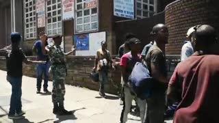 MKMVA Protestors clash with the Police