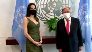 Angelina Jolie meets with U.N. Secretary-General