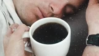 Wife Surprising Husband With Coffee Fail