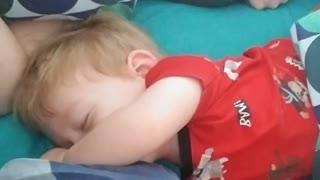 laughing in his sleep
