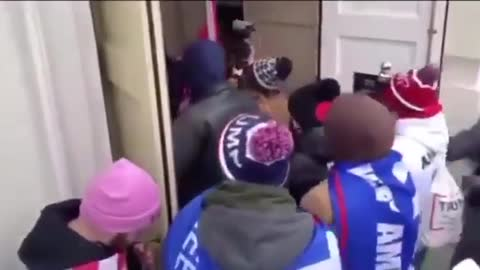 Shocking New Video: Capitol Police Appear To Just Let Protesters Into Building