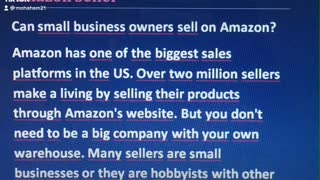 Can small business owners sell on Amazon?