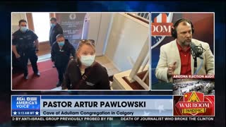Hero Pastor Artur Pawlowski Joins War Room In Studio