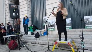 Prof. Dolores Cahill, Irish Freedom Party, Rally, Dublin, 28th November 2020