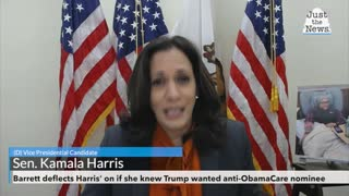 Barrett deflects Harris' questions on whether she knew Trump wanted anti-ObamaCare nominee