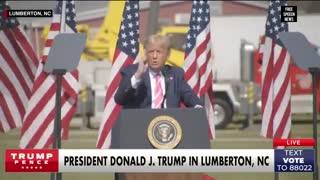 Trump talks Biden Rally