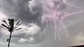 Electrical Storm Explodes With Intense Lightning