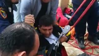 Hombre cayó a un hueco de 15 metros de profundidad en Bucaramanga