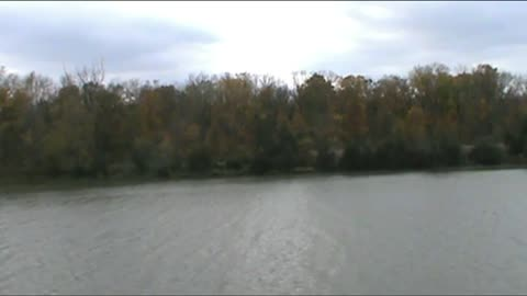 The Welland canal on a cloudy day
