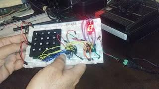 Keypad to 7 Segment Display