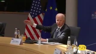 Biden Gets Lost Reading His Notes At EU-US Summit
