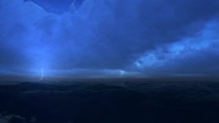Storm lighting raining thunderstorms