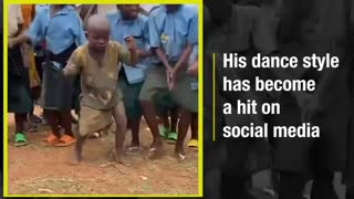 This kid's dance style has gone viral