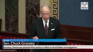Grassley: Democrats planted false stories in effort to derail Biden investigations.