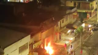 Incendio banco AV Villas Bucaramanga