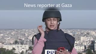 News reporter under attack nearly misses an explosion!! 🧨💣