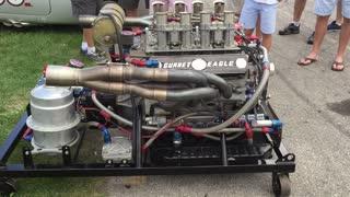 Gurney Eagle Engine Running on Engine Stand