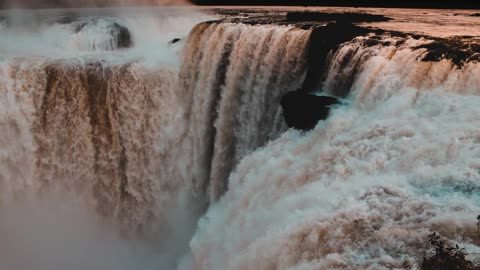 Relax Library Video 80. Watching The Massive Raging Waterfall