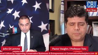 Pastor Shane Vaughn aka Professor Toto LIVE on the CBJ Real News Podcast Show