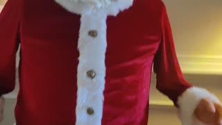 Santa dancing