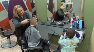 Two Boys Share Friendship with a Haircut