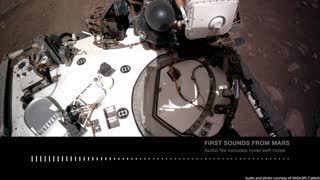 Very first sound from Mars