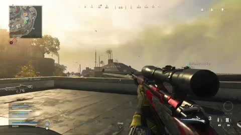 WARZONE FAR SNIPE IN TOWER