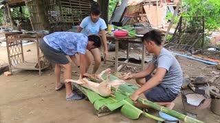 Yummy cooking BBQ pig recipe _ Cooking skill Roast pig _ Khmer Survival Skills