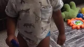 Baby getting down