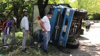 En accidente de tránsito falleció conductor de un camión en el Norte de Bucaramanga