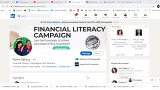 Norie Galang: Financial Literacy Campaign
