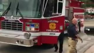 Firemen Visit Son Of Deployed Solder And Gift Him With The Best Surprise Ever!