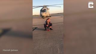 Toddler Runs To Navy Dad After Three Months Away