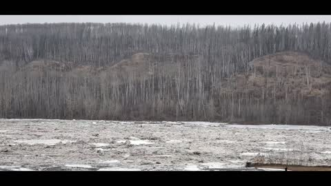 River ice melting..cause flooding in Fort McMurray