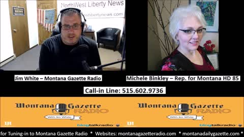 Montana Gazette Radio – Rep. Michele Binkley (HD 85) Joins me Live