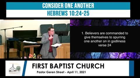 Sunday Morning Worship - April 11, 2021