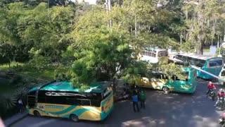 Jardín Botánico - paro de taxis y buses