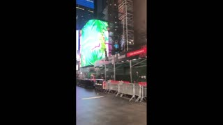 Unknown Man Flies Hoverboard In Time Square, NYC
