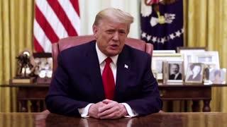 Trump condemns Capitol mob, ignores impeachment