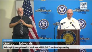 Gov. Edwards speaks about Hurricane Sally