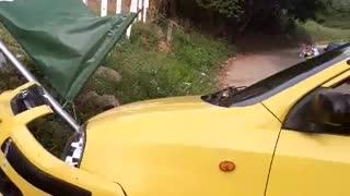 Atraco a taxista terminó en accidente de tránsito en Bucaramanga
